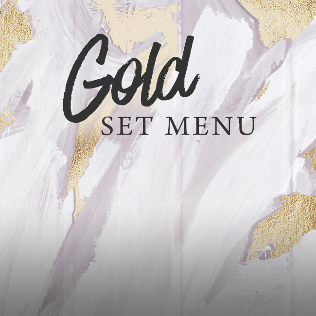 Gold set menu at The Trout Inn