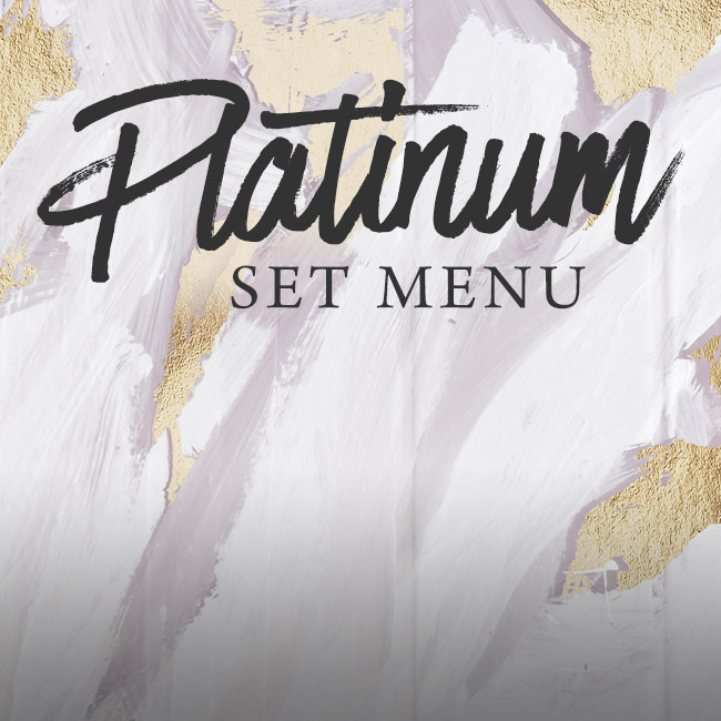 Platinum set menu at The Trout Inn