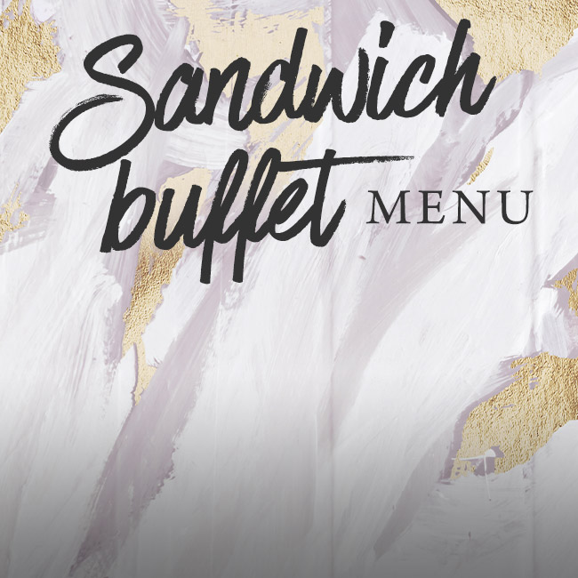 Sandwich buffet menu at The Trout Inn