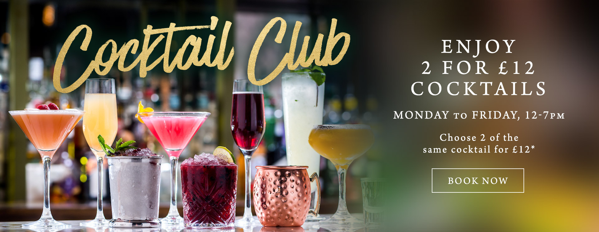 2 for £12 cocktails at The Trout Inn